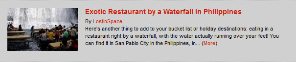 Exotic Restaurant by a Waterfall in Philippines