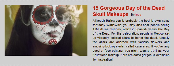 15 Gorgeous Day of the Dead Skull Makeups