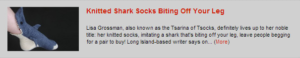 Knitted Shark Socks Biting Off Your Leg