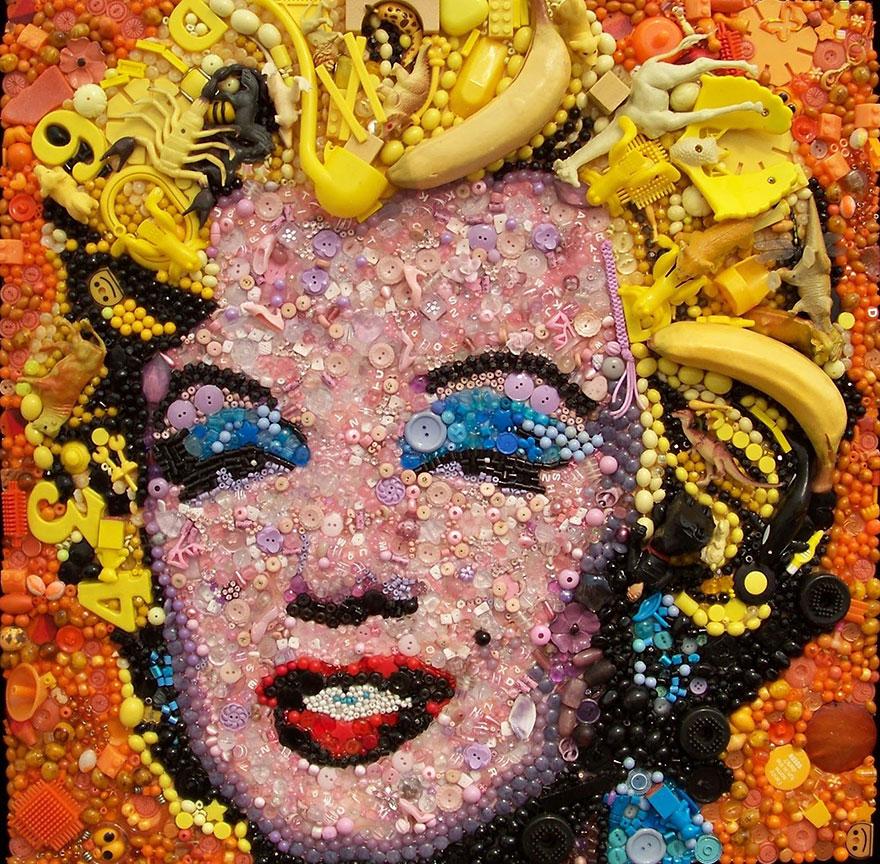 plastic-classics-found-objects-famous-portraits-jane-perkins-9