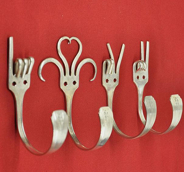 21. Forks Into Coat Hangers