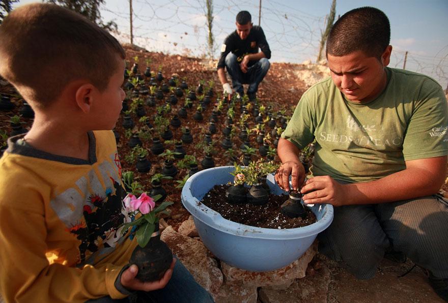 gases lacrimógenos-macetas-palestina-10