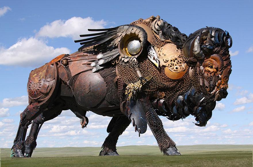 -chatarra soldada de metal-esculturas-john-lopez-19