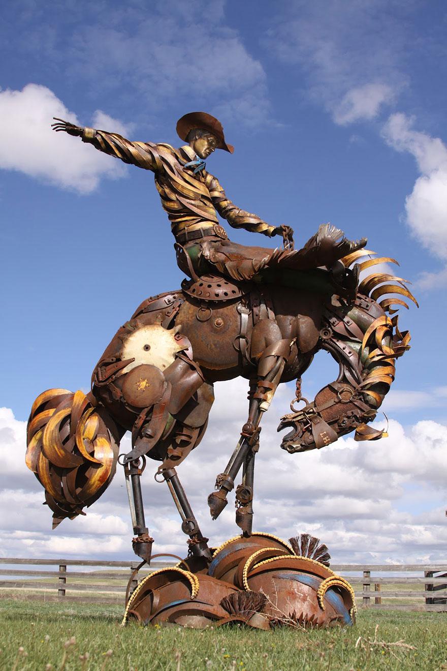 -chatarra soldada de metal-esculturas-john-lopez-7