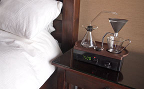 This Alarm Clock Will Wake You Up With A Fresh Cup Of Coffee