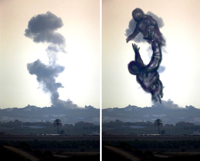 gaza-israel-rocket-strike-smoke-art-24