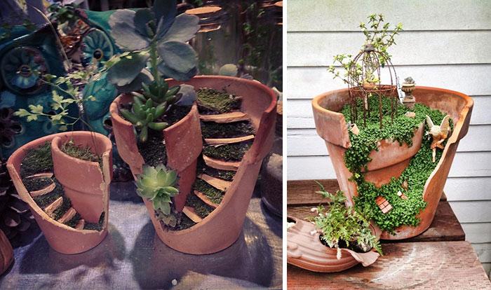 DIY Pot Fairy Gardens