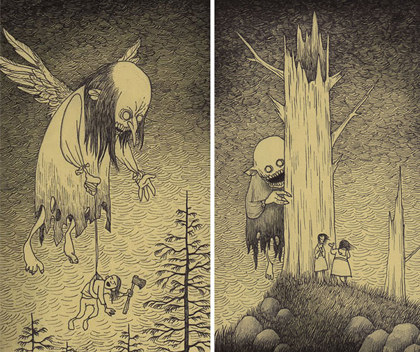 creepy-monsters-sticky-notes-drawings-don-kenn-14