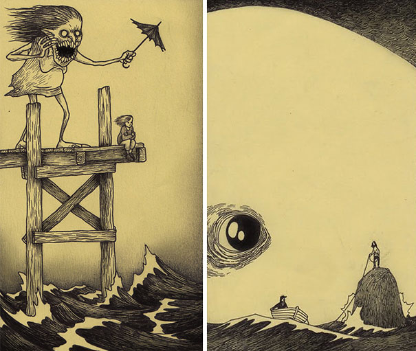 creepy-monsters-sticky-notes-drawings-don-kenn-15