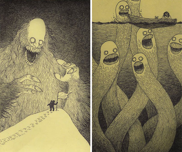 creepy-monsters-sticky-notes-drawings-don-kenn-2