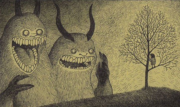creepy-monsters-sticky-notes-drawings-don-kenn-21
