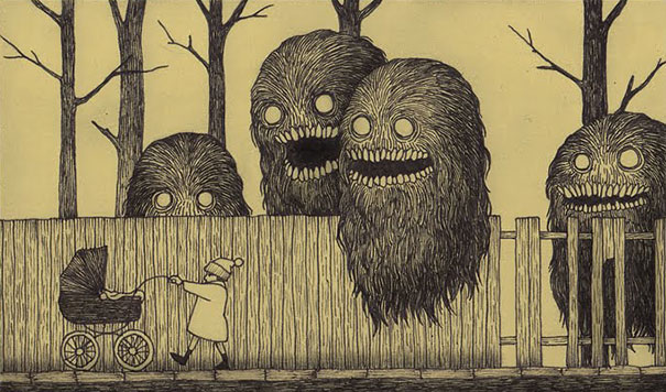 creepy-monsters-sticky-notes-drawings-don-kenn-3