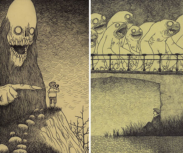 creepy-monsters-sticky-notes-drawings-don-kenn-8