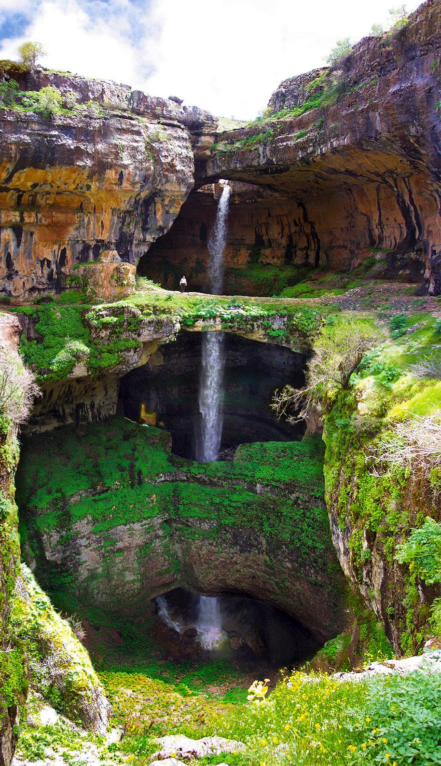 tres puentes-cueva-baatara-garganta-cascada-líbano-13