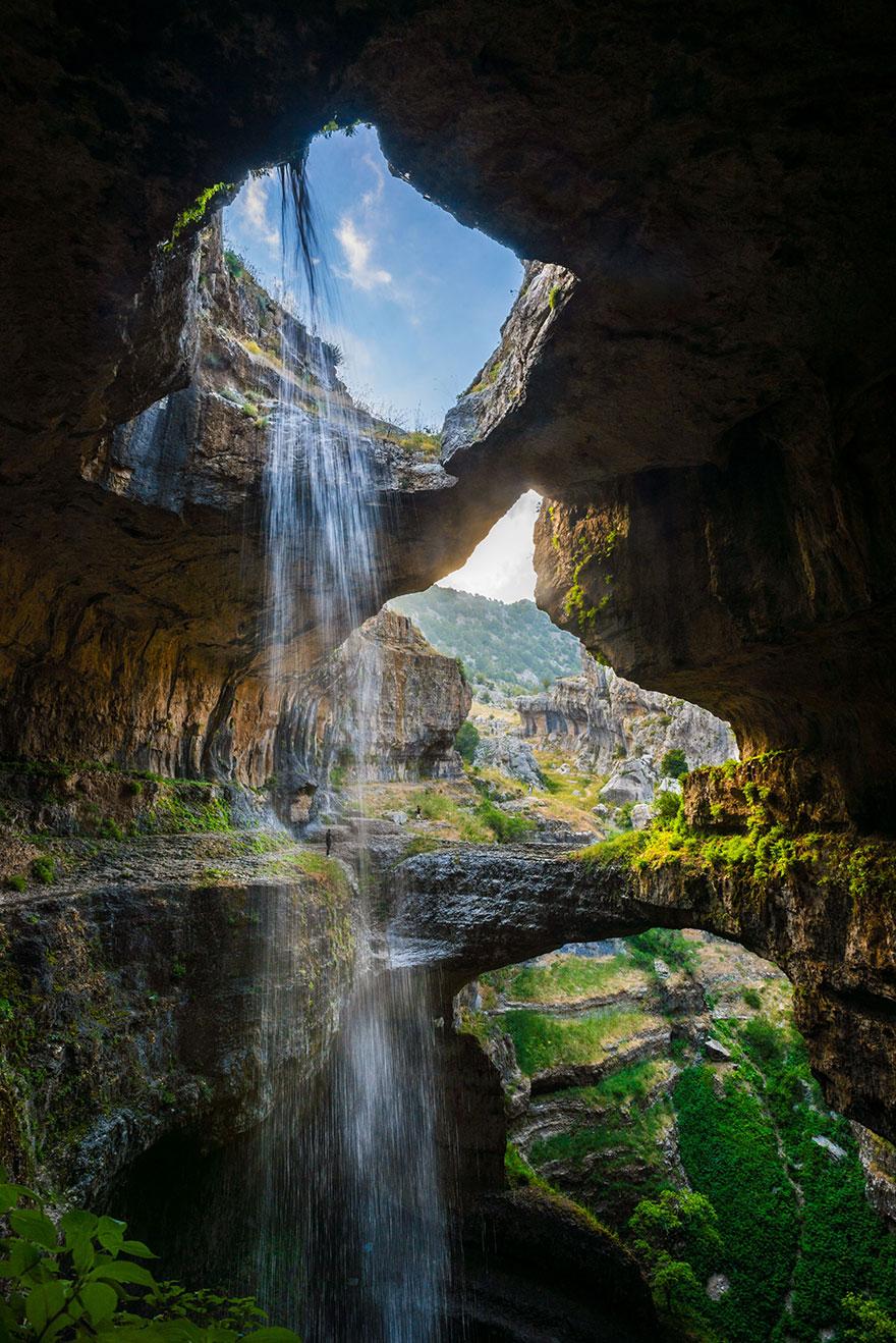 tres puentes-cueva-baatara-garganta-cascada-líbano-3
