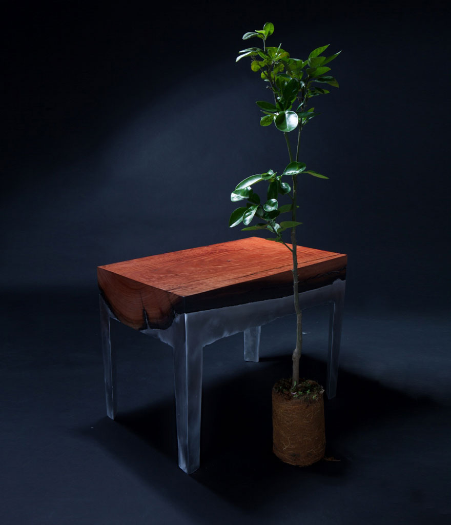wood casting aluminum furniture hilla shamia 1 تصاميم اثاث و ديكورات من الخشب والالومنيوم معا, صور