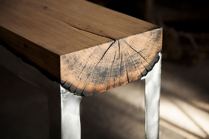 wood casting aluminum furniture hilla shamia 10 تصاميم اثاث و ديكورات من الخشب والالومنيوم معا, صور