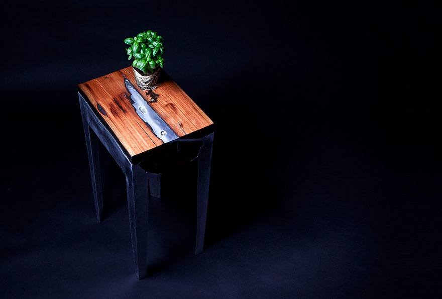 wood casting aluminum furniture hilla shamia 11 تصاميم اثاث و ديكورات من الخشب والالومنيوم معا, صور