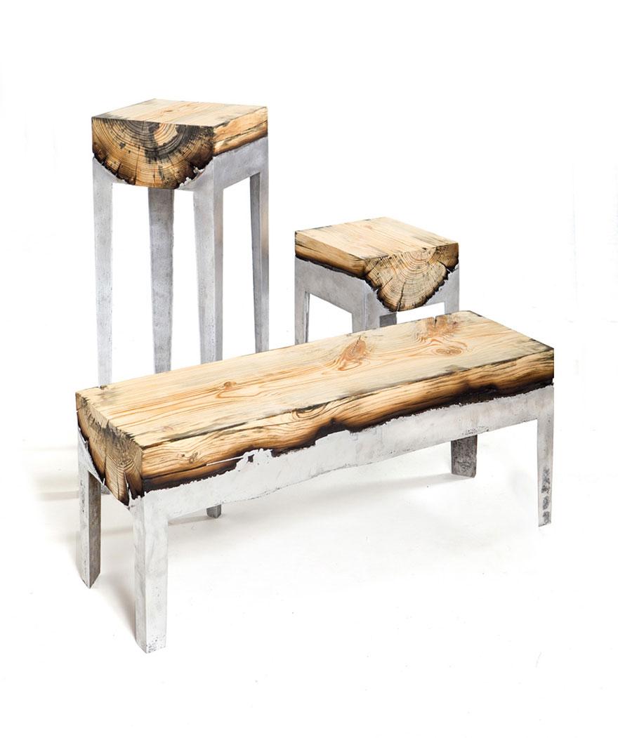 wood casting aluminum furniture hilla shamia 17 تصاميم اثاث و ديكورات من الخشب والالومنيوم معا, صور