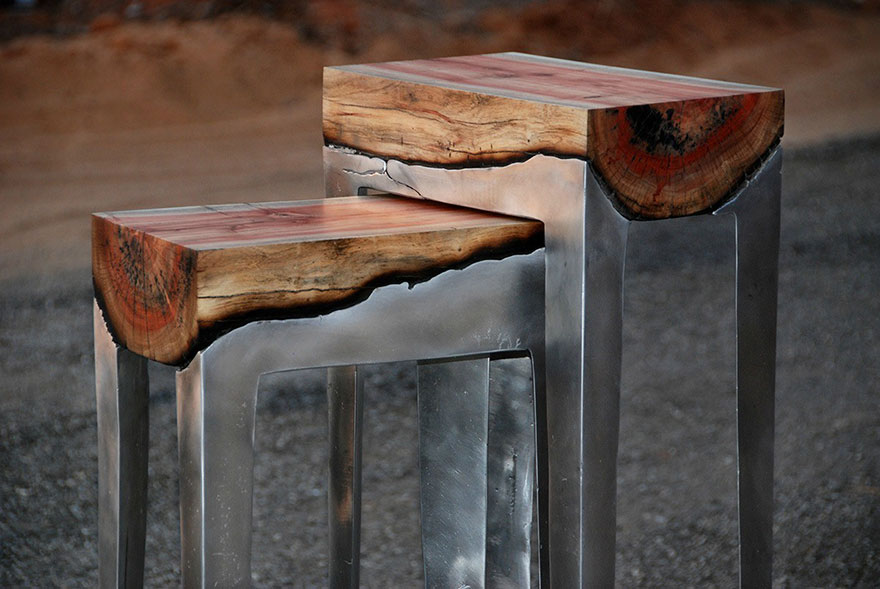 wood casting aluminum furniture hilla shamia 8 تصاميم اثاث و ديكورات من الخشب والالومنيوم معا, صور