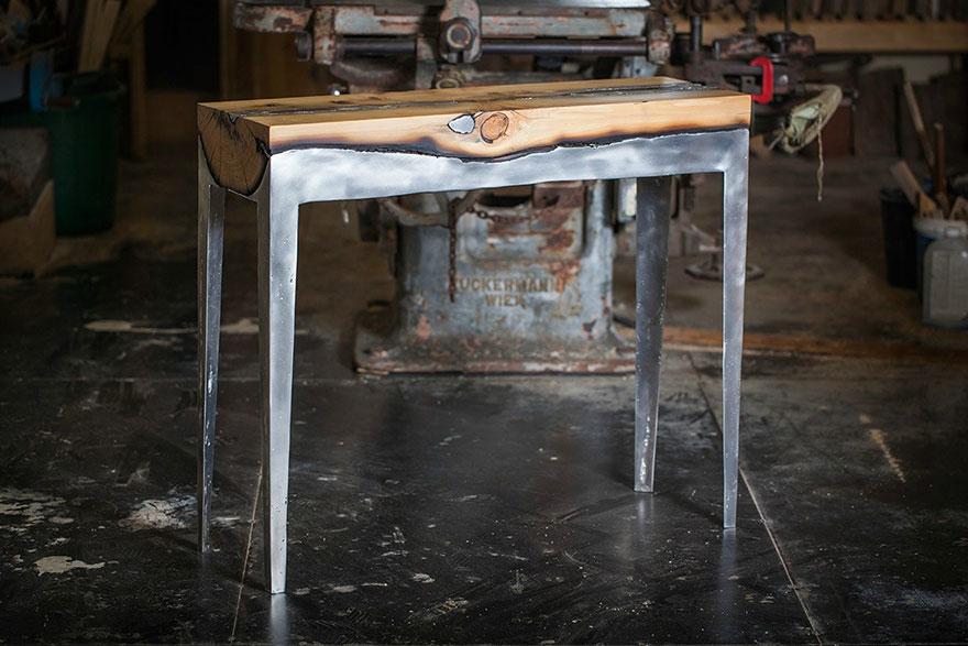 wood casting aluminum furniture hilla shamia 9 تصاميم اثاث و ديكورات من الخشب والالومنيوم معا, صور