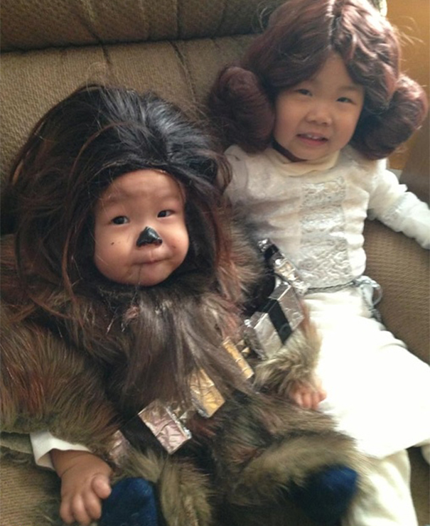 Baby Chewbacca And Leia