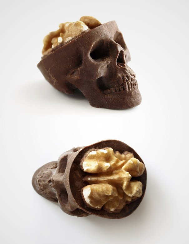 Chocolate Skulls With Brains