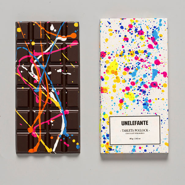 Painted Bars Of Chocolate