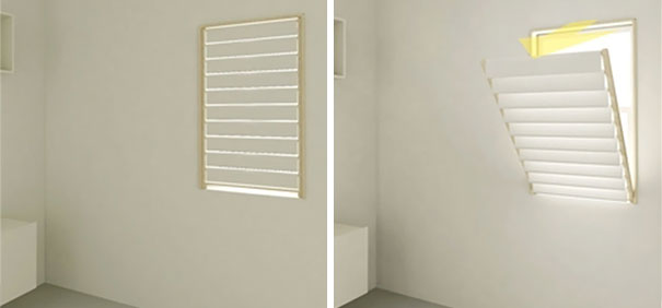 Window Blinds Folds As A Rack