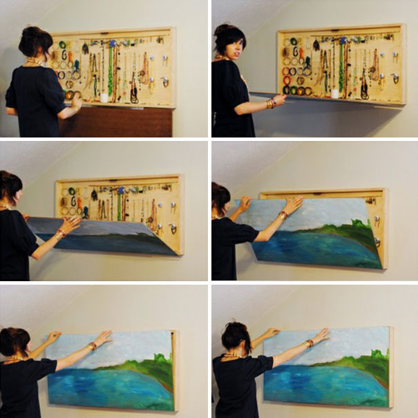 Painting That Doubles As Jewelry Storage