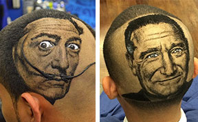 Hair Stylist Turns Clients' Hair Into Photo-Realistic Art