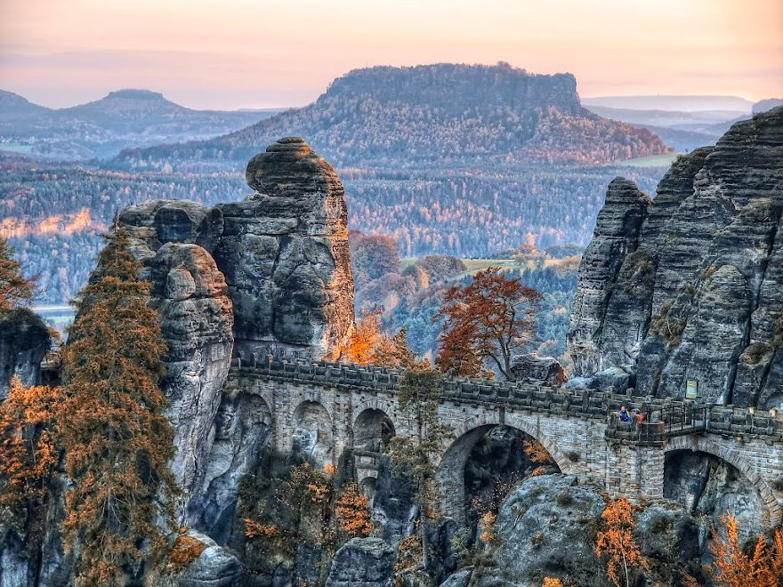 Bastei Bridge Near Dresden, Germany
