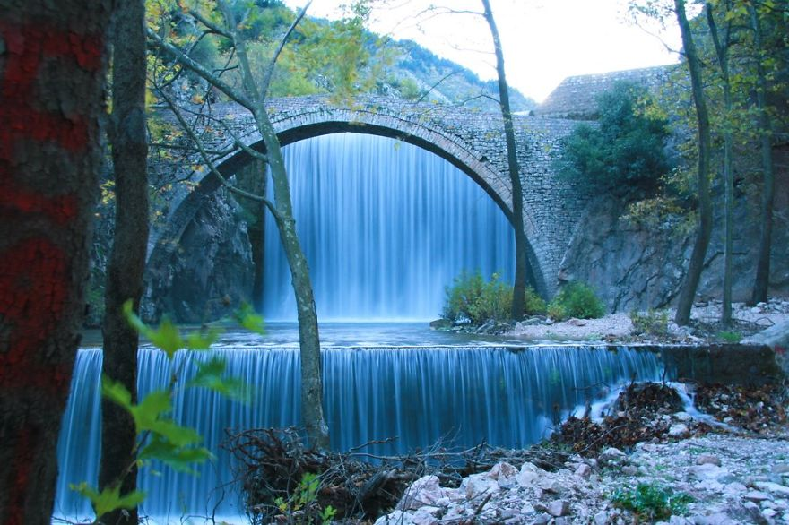 Palaiokaria's Bridge, Greece