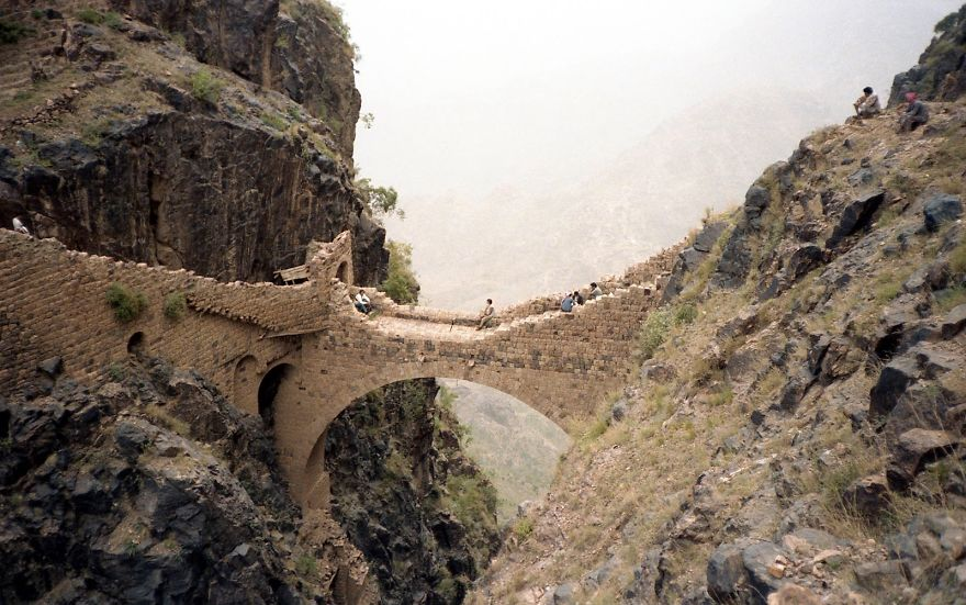 The Shahara Bridge Is The Gateway To Shahara Village, Tucked Away In Yemen's Jabal Shahara Moun