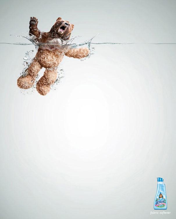 Lenor fabric softener Advertisement