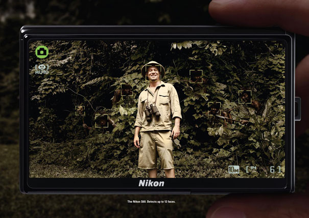 The Nikon S60. Detects up to 12 faces Advertisement