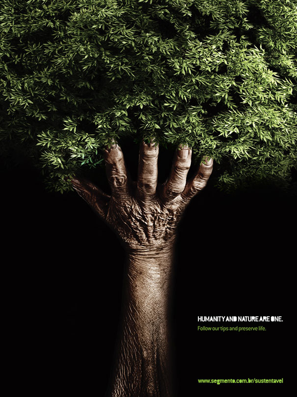 Humanity and nature are one  Advertisement