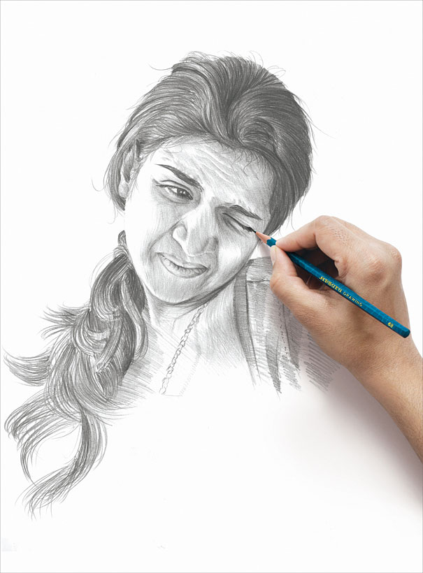 Reacting Portraits by Vipin Baria