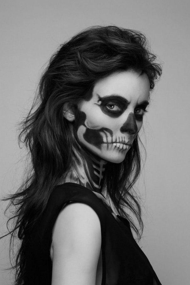 Creepy Skeleton Make-Up by Mademoiselle Mu