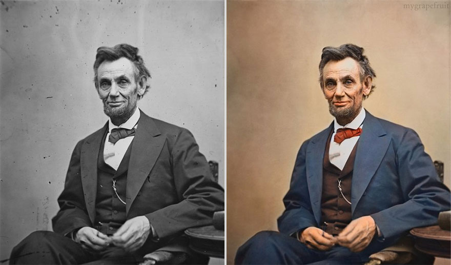 Famous Old Photographs Restored in Color