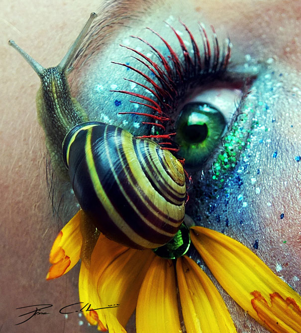 Incredibly Colorful Eye Makeup Art by Svenja Schmitt