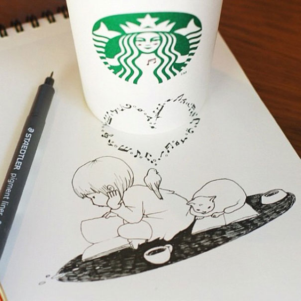 Cute Starbucks Cup Drawing