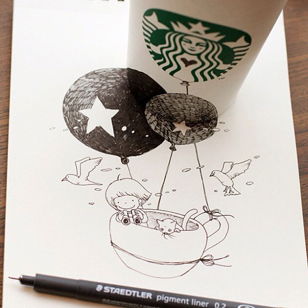 Starbucks Coffee Tumblr Drawing