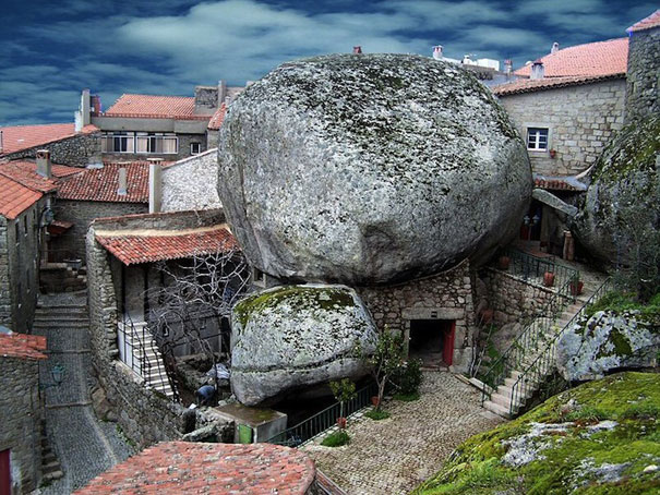 Medieval Village Squeezed Between Rocks