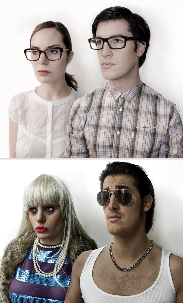 Same Couple, Different Makeup, Clothes and Hairstyle (9 pics)