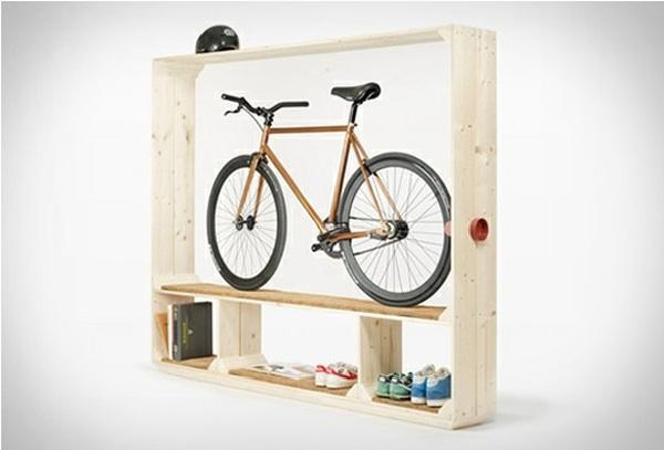 Shelf for Shoes, Books and a Bike