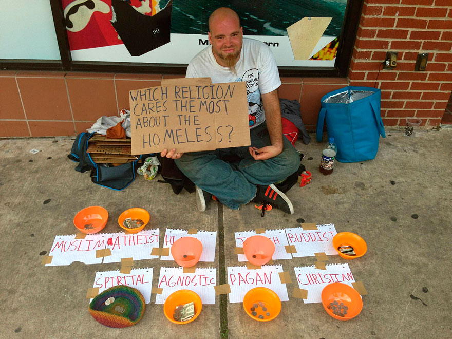 Panhandler's Experiment: Which Religion Cares the Most About the Homeless?