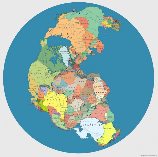 Earth 300 Million Years Ago Mapped With Modern Geopolitical Borders