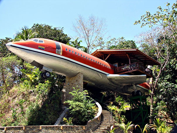 Vintage Boeing 727 Turned Into Luxorious Hotel