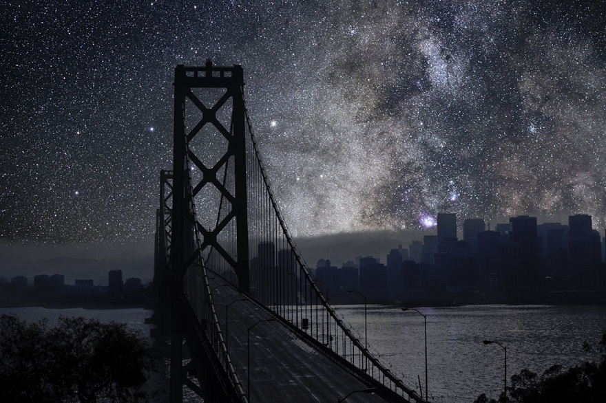 What the Night Sky Would Look Like If Cities Went Dark (9 pics)